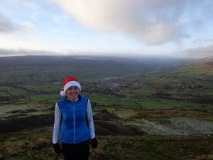 Chrimbo morning trot, glug of mulled wine and great views...