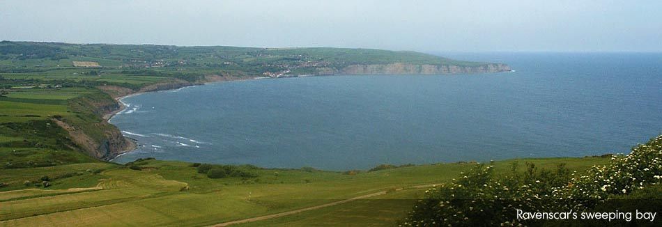 Looking towards Robin Hood's Bay from Ravenscar on a sunnier day...